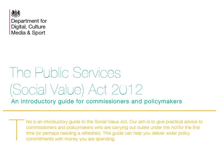 The Public Services (Social Value) Act 2012