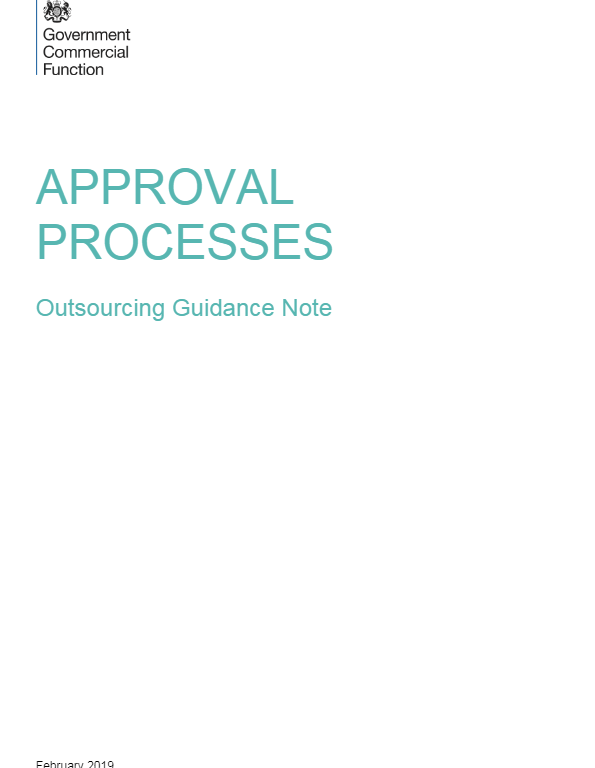 Approval Processes - Outsourcing Guidance Note